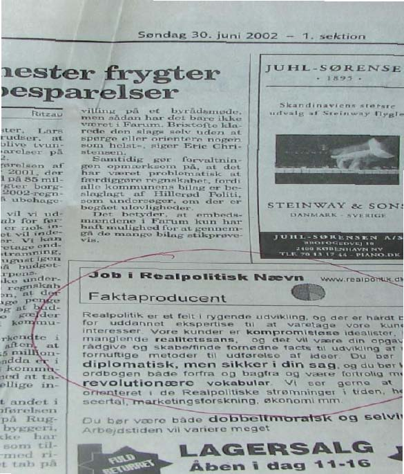 job-add in newspaper